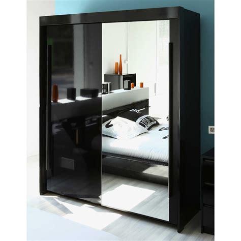 chambre avec miroir armoire 2 portes coulisantes avec miroir l184xp61xh217cm