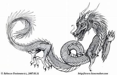 Dragon Chinese Drawing Clip Library Clipart Cliparts