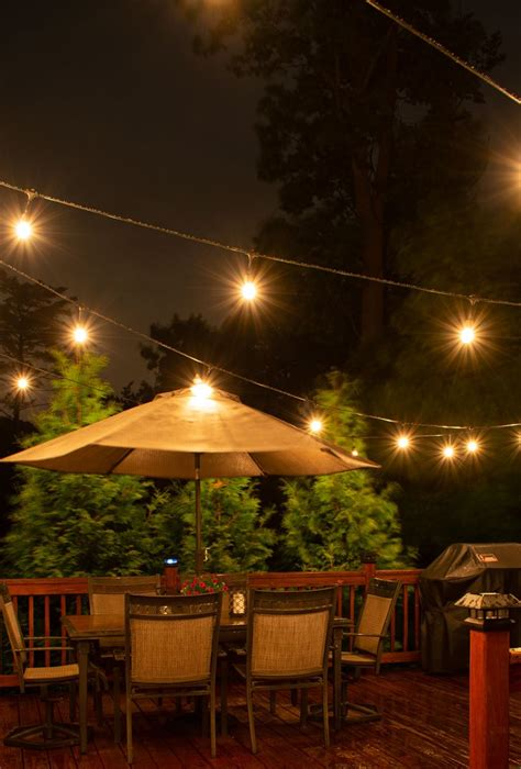 install deck lighting  edison outdoor string