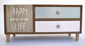 Meuble Rangement Scandinave : happy life petit meuble rangement tiroir scandinave nozarrivages ~ Teatrodelosmanantiales.com Idées de Décoration