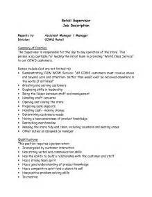 Resume Supervisor Description by Supervisor Description For Resume Berathen