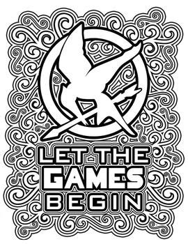 The Hunger Games Coloring Pages Book | Hunger games