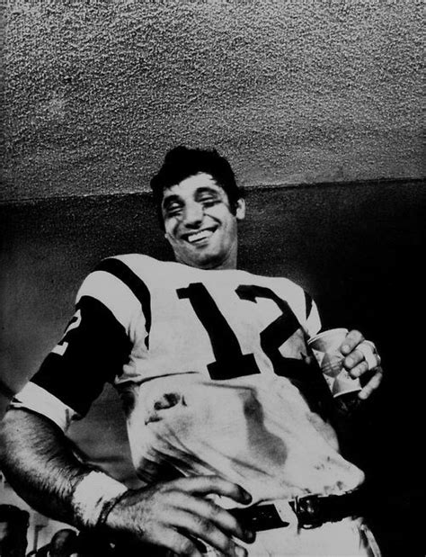 """In the locker room after the game, """"Broadway Joe"""" Namath ..."""