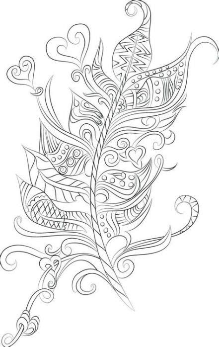 64+ Trendy Tattoo Feather Letter Etsy #tattoo | Adult coloring, Coloring pages, Adult coloring pages