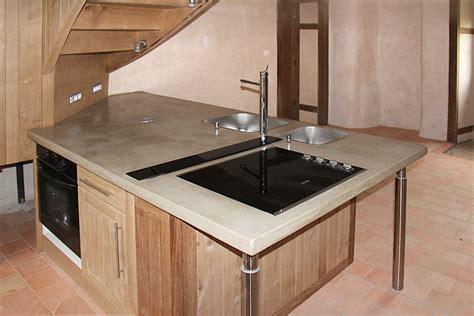 cuisine beton cire bois cuisine en beton comptoir cuisine beton cire comptoir