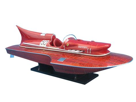 Ferrari hydroplane wooden model boat ready for display or can be convert for radio control. Buy Ferrari Hydroplane Limited 32 Inch - Boat Model