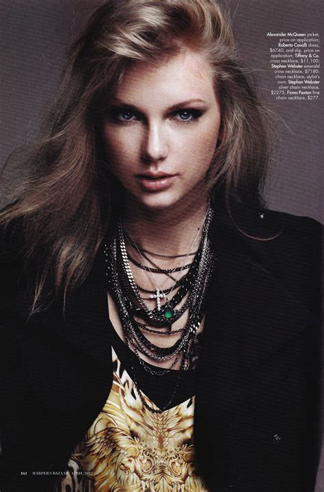 Taylor Swift in Harper's Bazaar Magazine, April 2012 Issue ...