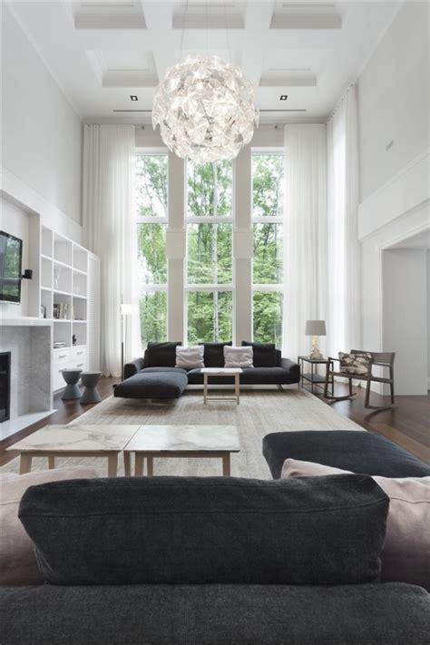 canapé sky grey and white interior adorable home