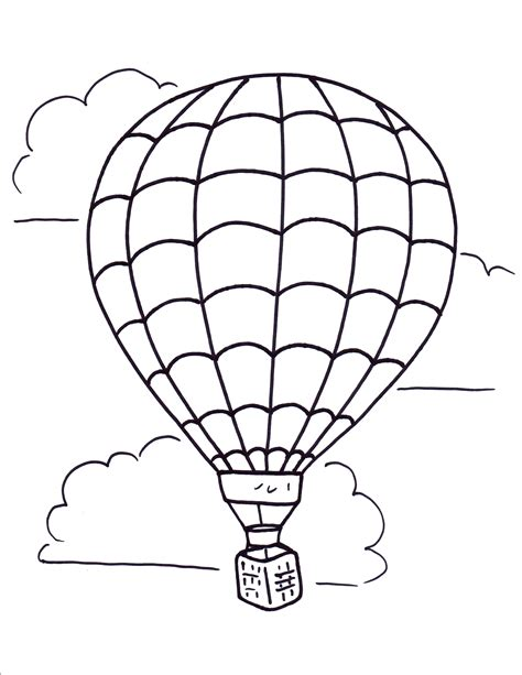 hot air balloon coloring pages  large images