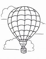 Balloon Coloring Air Printable Template Sheets Drawing sketch template