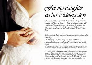 personalised poem poetry for bride daughter from dad on With father s letter to daughter on wedding day