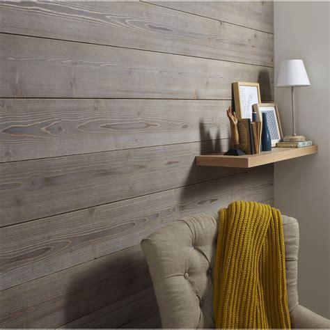 papier peint leroy merlin chambre lambris epicéa brossé taupe l 237 x l 18 cm ep 16 mm