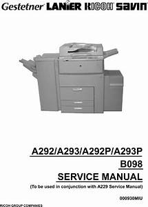 Free Service  Repair Manual For Ricoh Mp C6501sp  Mp C7501sp
