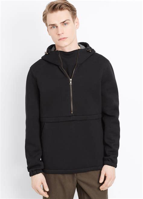 lyst vince neoprene pullover  zip hoodie  black