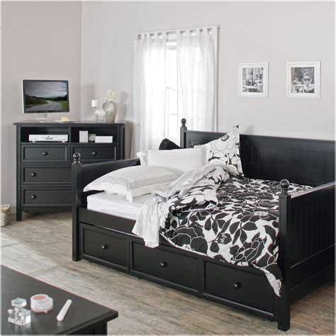 with bed pull out verysmartshoppers size black wood daybed with pull