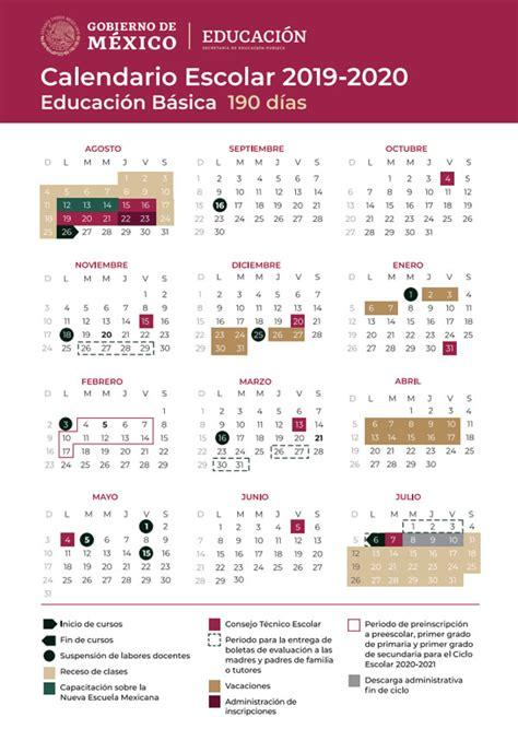 calendario del ciclo escolar fechas de