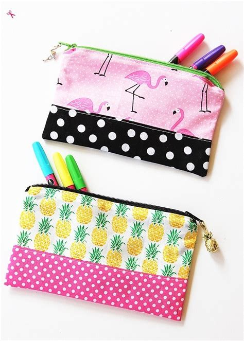 tutorial simple zipper pencil pouch sewing