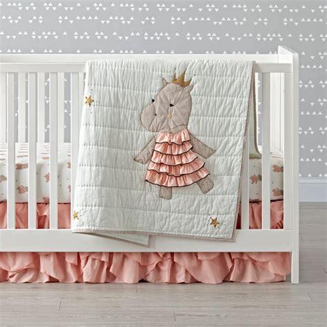 royal hippo crib bedding  land  nod