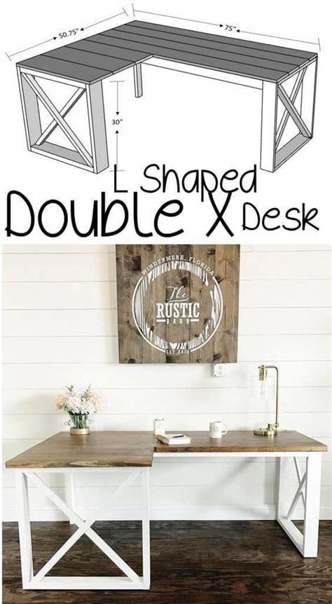 shaped double  desk idees epiplwn epipla kai epipla