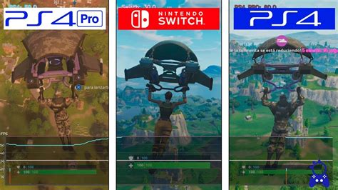 fortnite switch  ps  ps pro framerate test fps