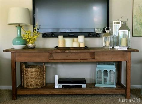 tv console decorating ideas shelf under tv decorating pinterest to miss entry tables and tables