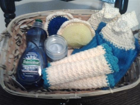 kitchen basket ideas crocheted kitchen gift basket ideas yarn sewing crafty