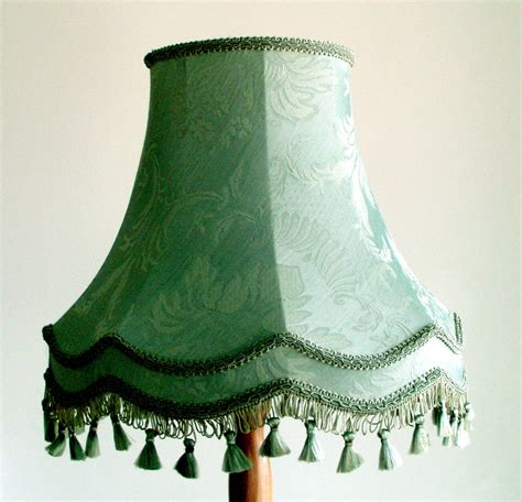 old fashioned l shades duke 22 quot standard lshade in soft green brocade