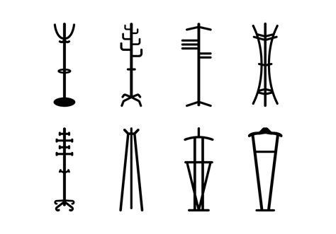 coat stand vector icons   vectors clipart