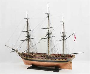 Photos of ship model frigate HMS Diana of 1794, views of ...