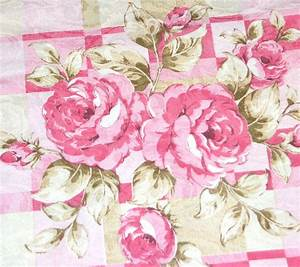 Vintage Pink Rose Damask Polyester Fabric 36 X 45quot Bolt