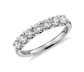 platinum wedding band with diamonds seven ring in platinum 1 ct tw blue nile