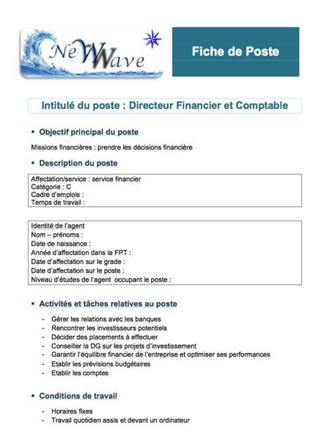 fiche de poste secretaire comptable 28 images fiche de poste charg 233 de communication pdf
