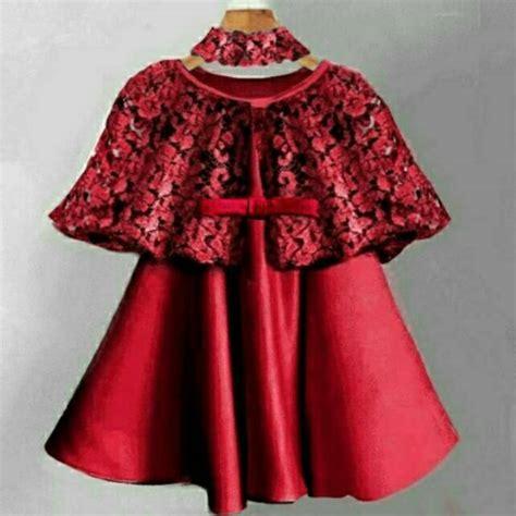 dress anak usia    bagus cape brukatbrokatlace