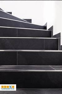 Treppe Fliesen Mit Schiene Anleitung : xl style ardosia bodenfliese 40x80 nero in 2019 treppe ~ A.2002-acura-tl-radio.info Haus und Dekorationen