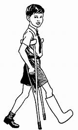 Crutches Clipart Cliparts Injuries Clip Boy Library Polian Pissed Bill Stampede sketch template