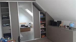 Dressing Sur Mesure Sous Pente : dressing portes coulissantes et agencement sous pente ~ Melissatoandfro.com Idées de Décoration