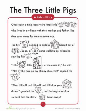 stories online for preschoolers the 3 pigs worksheet education 700