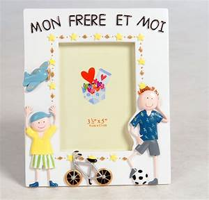 Mon Cadre Photo : cadre photo enfant mon fr re et moi gar on emde ~ Teatrodelosmanantiales.com Idées de Décoration