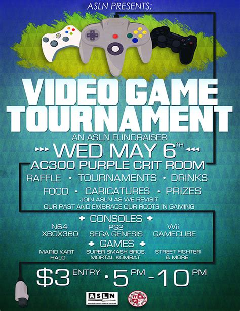 asln presents video game tournament california state