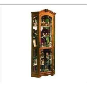 Pulaski Oak Corner Curio Cabinet by Pulaski Corner Curio Cabinet White Painted 3 Glass