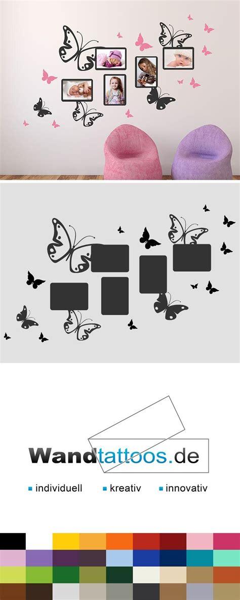 Kinderzimmer Gestalten Wandtattoo by Wandtattoo Schmetterlinge Mit Fotorahmen Kinderzimmer