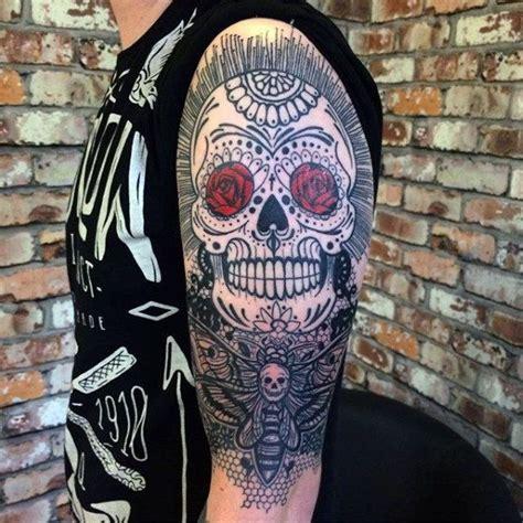 Friend Tattoos - 100 Sugar Skull Tattoo Designs For Men