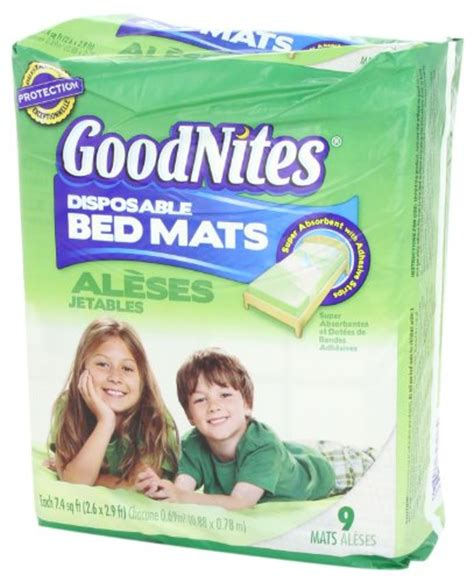 goodnites disposable bed mats 9 count