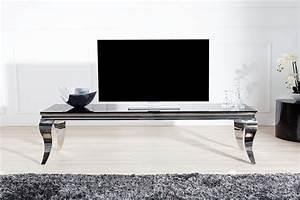 Designer Tv Board : casa padrino designer tv board schwarz silber 160 cm x 45 cm x h 45 cm modern barock casa ~ Indierocktalk.com Haus und Dekorationen
