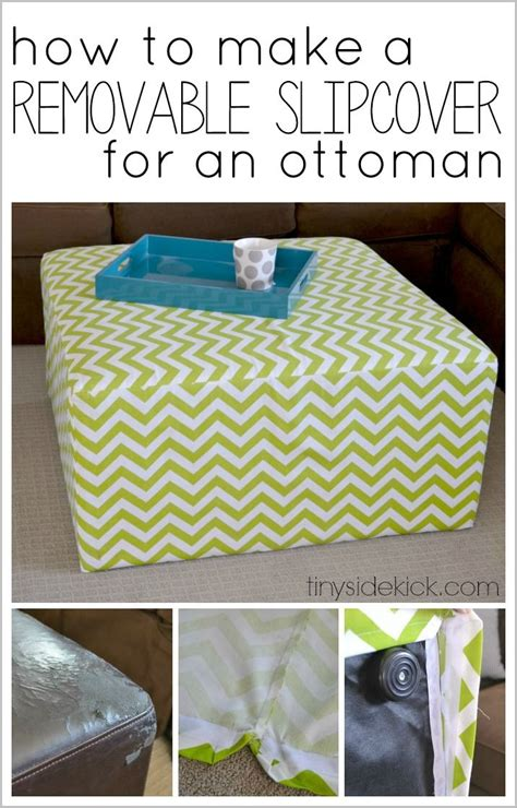 slipcover for ottoman how to make best 25 ottoman cover ideas on ottoman