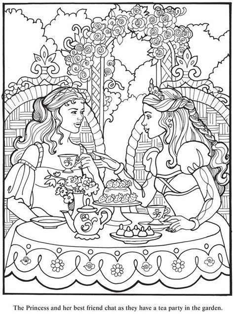 print coloring pages and drawings to paint princess