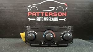 2007 Dodge Charger Manual Heater Ac Temperature Climate
