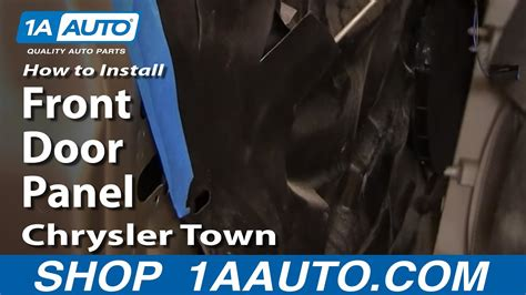 install replace remove front door panel chrysler town  country   aautocom youtube