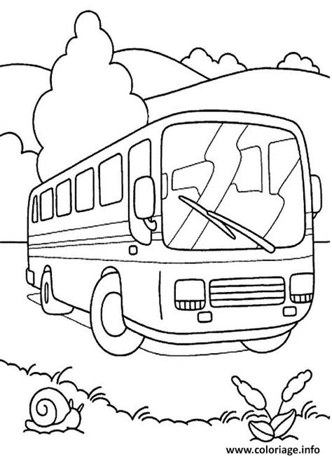 coloriage bus dessin