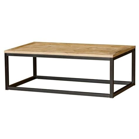 table basse industrielle metal et bois table basse bois et m 233 tal masao achat vente table basse table basse bois et m 233 tal m cdiscount